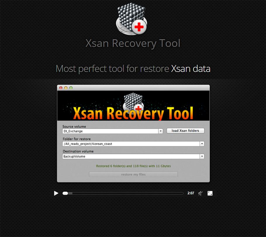 MacOS App: XSAN Recovery Tool